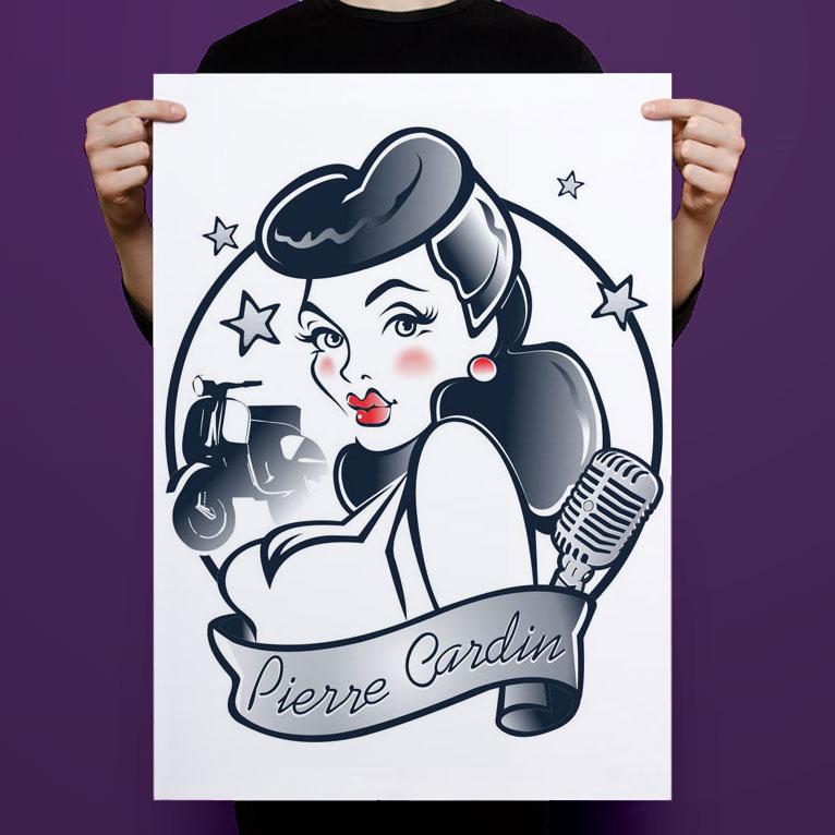 Pierre Cardin - 50' Pin up Girl