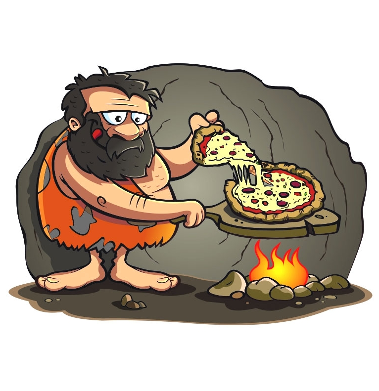 caveman pizza